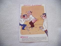 BELLE ILLUSTRATION ...REGLEMENT DE LA PETANQUE - Humour