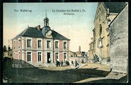 "CPA Color AK Frankreich Rethel I.WK ""Le Chatelet Bei Rethel,Marktplatz,belebt"" 1 AK Blanco - Rethel"