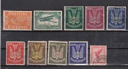 Allemagne Poste Aèrienne 10 Valeurs - Luftpost