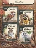 DJIBOUTI 2016 SHEET OWLS HIBOUX BUHOS EULEN CORUJAS BIRDS OF PREY AVES WILDLIFE Djb16113a - Yibuti (1977-...)