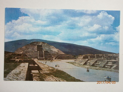 Postcard Mexico San Juan Teotihuacan Avenue Of The Dead & Pyramid Of The Moon  My Ref B11040 - Mexico