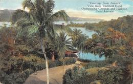 ¤¤   -  JAMAÏQIE  -  Greeting From Jamaïca - View From Titchfield Hôtel - Overlooking Ground And Harbour Port-Antonio - Jamaïque
