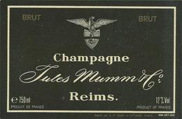 Etiquette CHAMPAGNE Jules Mumm - Champagne