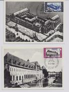 Belgie 1304/05 - Maximumkaarten - Restauratie Abdij Het Pand Gent - 1961-1970