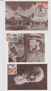 Belgie 1278/80 - Maximumkaarten - Werelddag Melaatsen - P Damiaan - 1961-1970