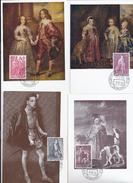 Belgie 1307/12 - Maximumkaarten - Antiteringszegels - Reproducties Bekende Belgische Schilders - 1961-1970