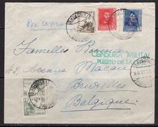 España 1938. Canarias. Carta De Puerto De La Cruz, Tenerife A Bruselas. Censura. - Marcas De Censura Nacional