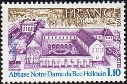 France N° 1999 ** Abbaye Notre-Dame Du Bec-Hellouin (Eure) Architecture - Unused Stamps