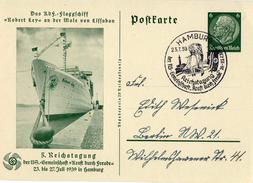 Drittes Reich 1939 Ganzsache Mi P 240, K.d.F. Reichstagung In Hamburg Mit SST [050417KIV] - Enteros Postales