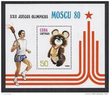 JUEGOS OLIMICOS/MOSCU - CUBA 1980 - Yvert #H60 Mint No Gum - Verano 1980: Moscu