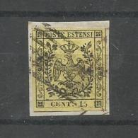 Italien / Modena. Adler Mit Krone, Nr. 3 II Auf Briefstück - Modena