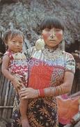 69979 PANAMA SAN BLAS COSTUMES NATIVE INDIA ITH LAVISH GOLD & SILVER JEWELRY POSTAL POSTCARD - Panama