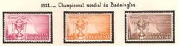 Indonésie 1958, Championnat Mondial De Badminton ( Thématique Sport ) - Indonésie