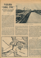 1951 : Document, CANAL DE PANAMA (4 Pages Illustrées) Ecluse De Miraflores, Ecluse De Pedro Miguel, Ecluses De Gatun... - Vieux Papiers