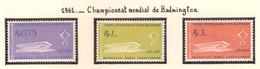 Indonésie 1961, Championnat Mondial De Badminton ( Thématique Sport ) - Indonésie