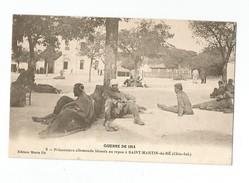 Prisonniers Allemands Blessés Au Repos A Saint Martin De Ré - Ile De Ré