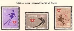 Italie 1966, Jeux Universitaires D'Hiver ( Thématique Sport ) - 6. 1946-.. Republik