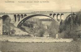Ref T219- Luxembourg - Luxemburg -pont Adolphe -petit Plan Train Ligne De Chemin De Fer  -carte Bon Etat  - - Unclassified