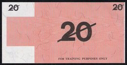 "Test Note ""BANK OF AUSTRALIA"" 20 Units, Testnote, RRRR, UNC, Special Paper - Australia"