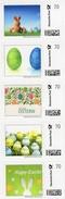 Ostern Marke Individuell 2017 BUND Streifen 1-5 ** 20€ Happy Easter Selbstkl. Deutsche Post Privat-stamp Of Germany - Alimentation