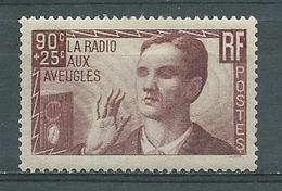 FRANCE  -  Yvert   N° 418 *  RADIO AUX AVEUGLES - Neufs