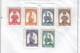 Vaticano 1956 Guardie Svizzere 450 Ann.   N.06 Valori: Nuovi    Scott.203/208 See Scan - Nuovi