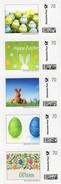 Happy Easter 2017 BRD Streifen 1-5 ** 20€ Marken Individuell Ostern Selbstkl.Deutsche Post Privat-stamps Of Germany - Hostelería - Horesca