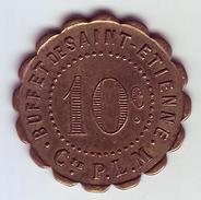 Monnaie De Nécessité - LOIRE 42 - St Etienne - Buffet De Saint Etienne. Cie P.L.M. 10c - - Monetari / Di Necessità