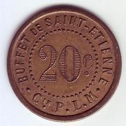 Monnaie De Nécessité - LOIRE 42 - St Etienne - Buffet De Saint Etienne. Cie P.L.M. 20c - - Monétaires / De Nécessité
