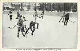 Ref T199- Sports D Hiver -hockey -canada - Montreal -partie De Gouret  - Carte Bon Etat  - Postcard In Good Condition  - - Canada