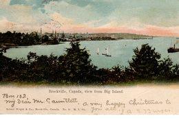 BROCKVILLE, Ontario, Canada, Waterfront View From Big Island, 1904 Pioneer Era UB Postcard, Leeds County - Brockville