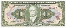 BRESIL   10 Cruzeiros   ND (1953-60)   Sign.6   P. 159d   UNC - Brésil