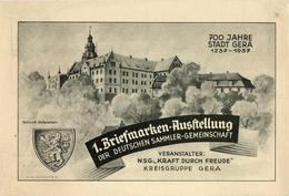 Drittes Reich 1937 Privatganzsache Mi PP 127 C 33, 700 Jahre Gera, Geposta Mit SST [050417KIV] - Deutschland