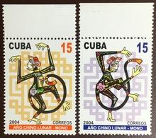 Cuba 2004 Year Of The Monkey MNH - Cuba