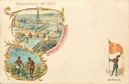 Ref T190- Exposition Universelle De Paris 1900- Somalis -illustrateur  - Carte Bon Etat  - - Somalie