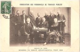 Dépt 59 - ASSOCIATION DES PERSONNELS DE TRAVAUX PUBLICS - Groupe Du Nord - Membres Du Comité Départemental Pour 1908 - Ohne Zuordnung