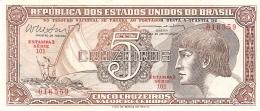 BRESIL   5 Cruzeiros   ND (1961-62)   Sign.10   P. 166b   UNC - Brésil