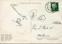 20516 Albania, Circuled Card 1940 From Tirana To Milano, (see 2 Scan) - Albania