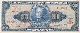 BRESIL   200 Cruzeiros   ND (1961)   Sign.9   P. 171a - Brésil