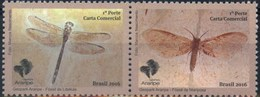 Brasil 2016 ** GeoPark Araripe. Fosiles De Libélula Y Mariposa.  See Desc. - Brazil