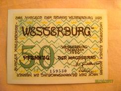 Germany: Notgeld - Westerburg 50 Pfennig 1921 - Zwischenscheine - Schatzanweisungen