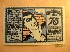 Germany: Notgeld - Kahla 50 Pfennig 1921 - Zwischenscheine - Schatzanweisungen