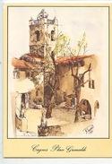 Cagnes : Place Grimaldi Dessin M. Peereard (cp Vierge) - Cagnes-sur-Mer