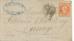 1858 ROANNE Empire ND N° 16 40 C Orange Vif Sur LAC Non Pliée TB. - 1853-1860 Napoléon III