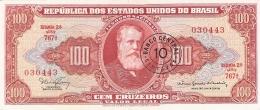 BRESIL   10 Centavos On 100 Cruzeiros   ND (1966-67)   Sign.15   P. 185a   AUNC/UNC - Brésil