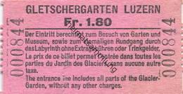 Schweiz - Gletschergarten Luzern - Eintrittskarte - Eintrittskarten