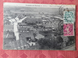 Dep 41 , Cpa CHAUMONT Sur THARONNE , Vue à Vol D'oiseau (ABCD.203) - Altri Comuni