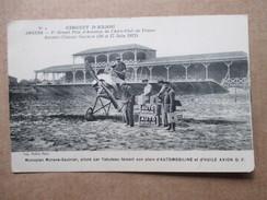 MAINE ET LOIRE  49  ANGERS  -GRAND PRIX D´AVIATION  DU 16/17 JUIN 1912  - TABUTEAU SUR MORANE .... ANIME     TTB - Angers