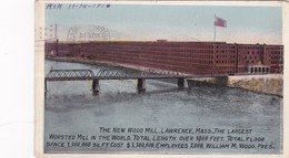 LAWRENCE, Massachusetts, 1916, The New Wood Mill, The Largest Worsted Mill In The World - Lawrence