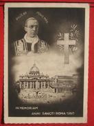 """Roma / Citta Del Vaticano (RM) - Zweibildkarte """"Pius XII Pont Max - In Memoriam Anni Sancti Roma 1950"""" - Vatikanstadt"""